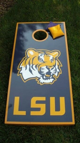 lsu wrap - Cornhole Board Wraps