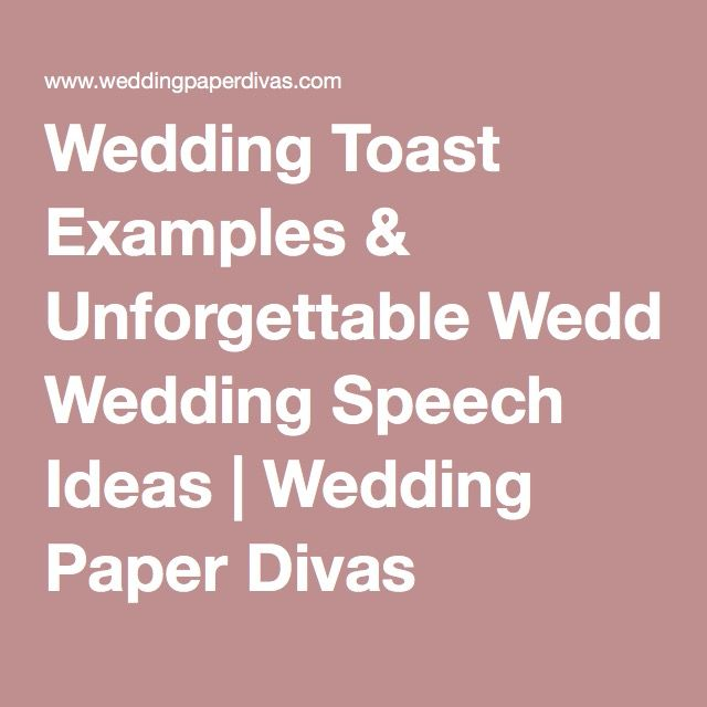 Wedding Toast Examples Amp Unforgettable Wedding Speech Ideas
