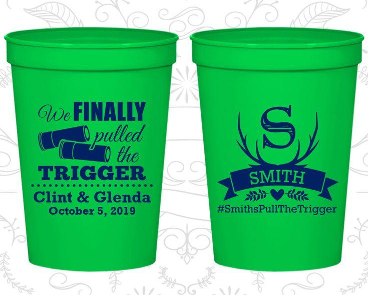 Stadium Cups, Wedding Cups, Plastic Cups, Personalized Cups, Personalized Plastic Cups, Wedding Favors, Monogrammed Cups (C564)