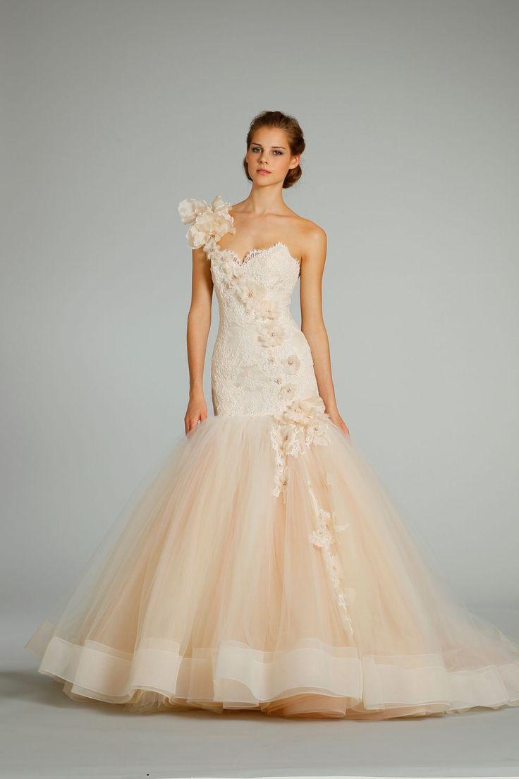 Die besten 25 lazaro dresses ideen auf pinterest abnehmbarer fall 2012 wedding dress lazaro bridal gowns 3259 peach tulle mermaid ombrellifo Choice Image