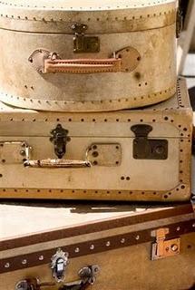 flea market finds: Old Trunks, Hats Boxes, Vintage Suitcases, Old Suitca, Vintage Trunks, Earth Tones, Colors Palettes, Vintage Luggage, Vintage Inspiration