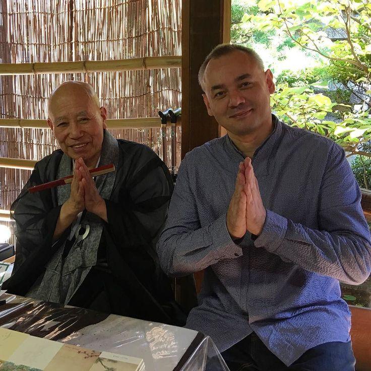 Вместе с  Одзэки-соэном - 12-м (предыдущим) настоятелем молельни Дайсэнъин в Дайтокудзи - шлем вам большой дзэнский привет из Киото! #дзен #киото #дайсэнъин #16 век #такуан #одзэкисоэн #соленья #буддизм #садкамней