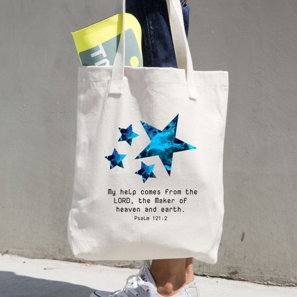 christian-graphic-tees-tote-bag-psalm121-2-stars