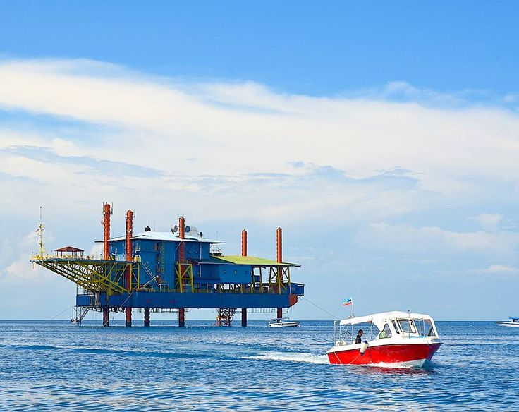 The world's only dive resort on an oil rig at Mabul Island Sabah Borneo.  This former Panama registered oil rig was towed all the way here and turned into a dive resort making this one of the most unique dive resorts in the world.  The place is called Sea http://www.deepbluediving.org/best-scuba-and-snorkel-mask-for-a-mustache/