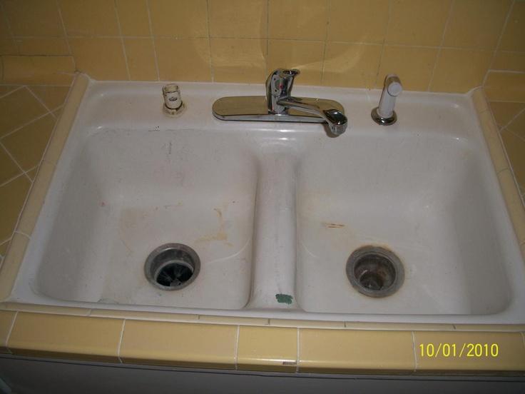 12 best sink reglazing images on pinterest kitchen sinks pkb reglazing dirty kitchen sink tile before workwithnaturefo