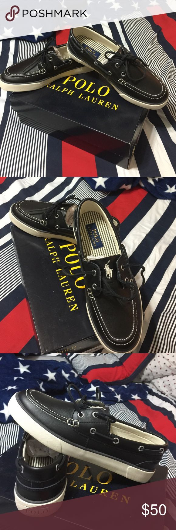 POLO RALPH LAUREN MEN SIZE 7.5 BEAUTIFUL BLACK SOFT LEATHER POLO RALPH LAUREN MEN SIZE 7.5 Polo by Ralph Lauren Shoes Loafers & Slip-Ons