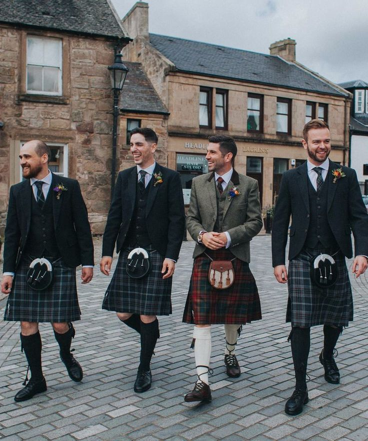 Alan was married at Cottiers in Glasgow last year and purchased a Premium Jacket Design Package with a County Cavan tartan kilt from us for his big day! His groomsmen all wore our exclusive Glen Orchy Tweed jackets and waistcoats with our Oban Mist kilts.