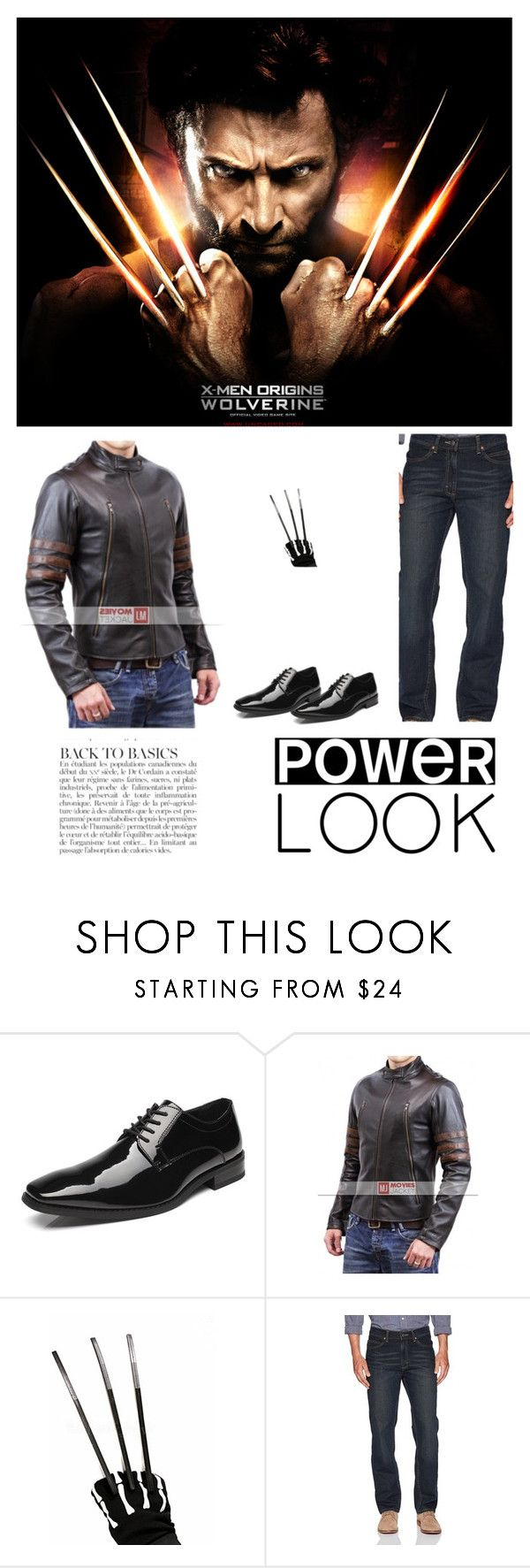 """""""X Men Wolverine Origins Jacket"""" by moviesjacket ❤ liked on Polyvore featuring Anja, men's fashion and menswear"""