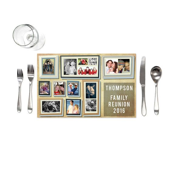 Family Reunion Placemats  Family Reunion by iCustomInvite on Etsy