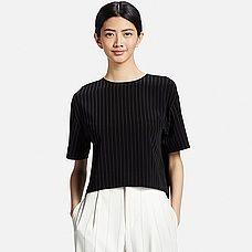 WOMEN Striped Short Sleeve T Blouse