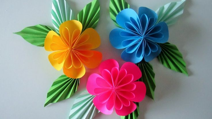 VIDEO:   FLORES de papael con tecnica  origami   - Blumen aus Papier/Notizzettel. DIY