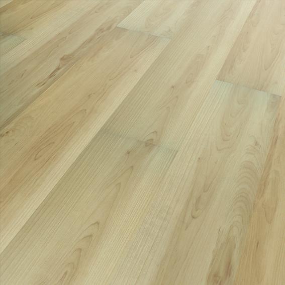 Klick Vinylboden KV Maple ist ein hochwertiger Vollvinyl-Boden zum kleinen Preis. Die hellen Landhaus-Dielen in Holzoptik sind 1220 x 180 mm groß und 5 mm stark.