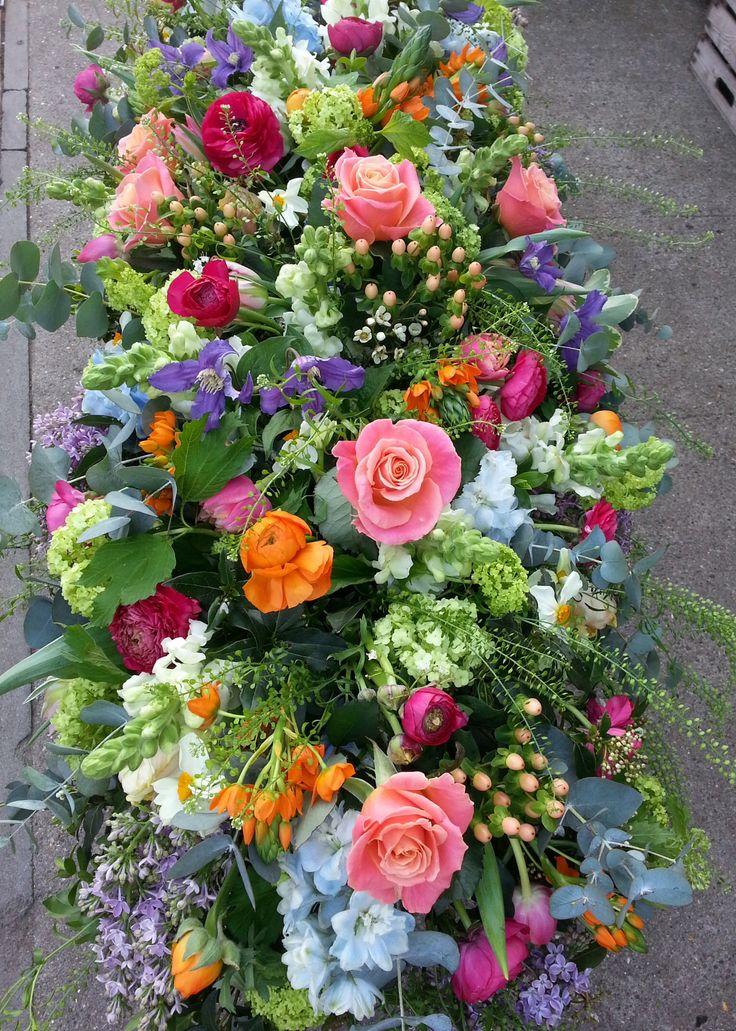 247 best Funeral Flowers - Creative Ideas images on Pinterest  |Casket Flowers