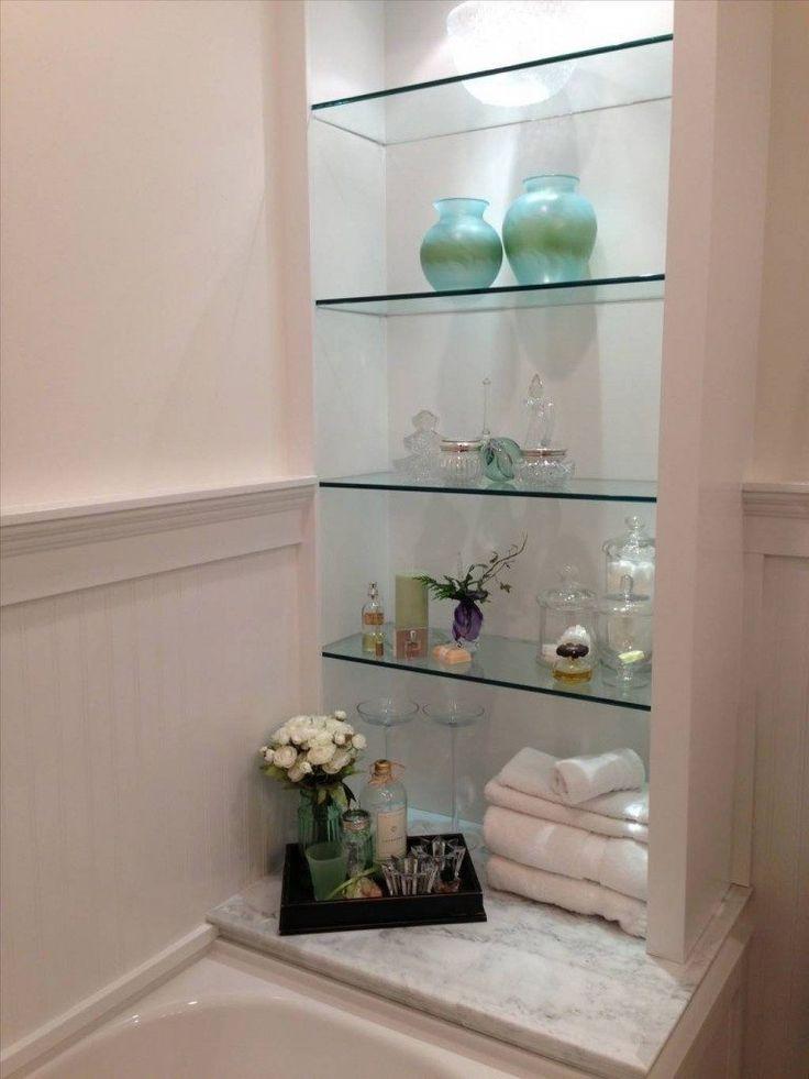 Modern Glass Shelves For Bathroom