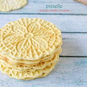 A traditional Italian holiday cookie, the Pizelle, is light and crispy with a snappy flavor. Recipe from Kitchen Confidant, found at www.edamam.com