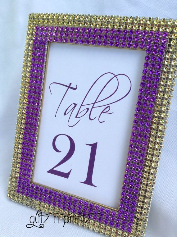 10 Gold and Purple Frames Gold and Purple Gold by GlitzNPrintz, $75.00