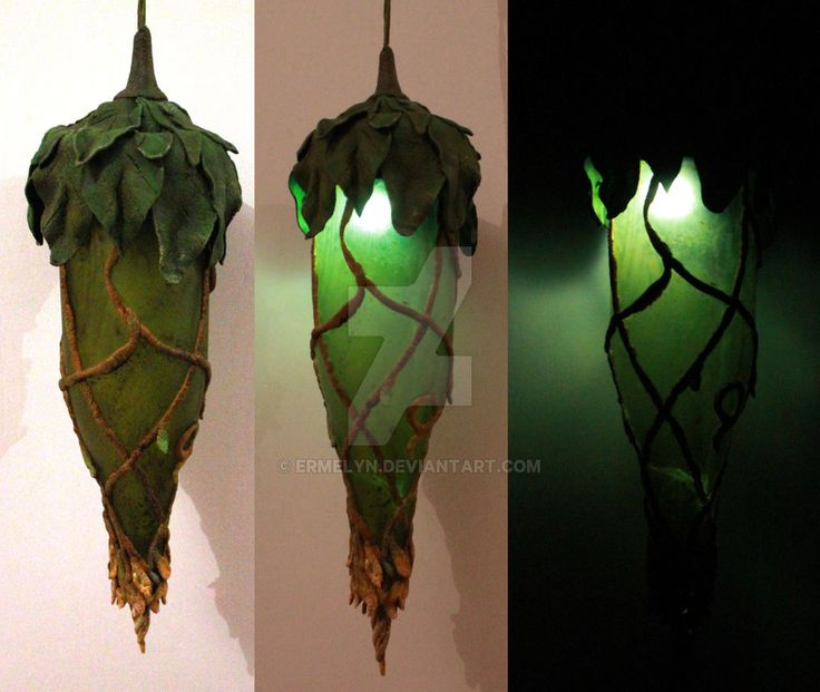 I would <3 to make a battery operated one of these on a staff for roaming safely at night. - Woodland Lamp by Ermelyn on DeviantArt
