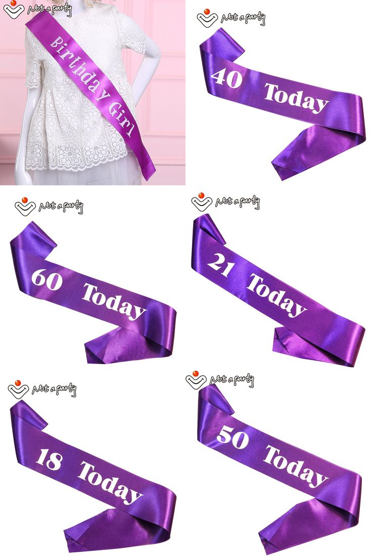 [Visit to Buy] Purple birthday girl sash fun adult ceremony gift 18 21 30 40 50 60 birthday souvenir ribbons event party supplies #Advertisement