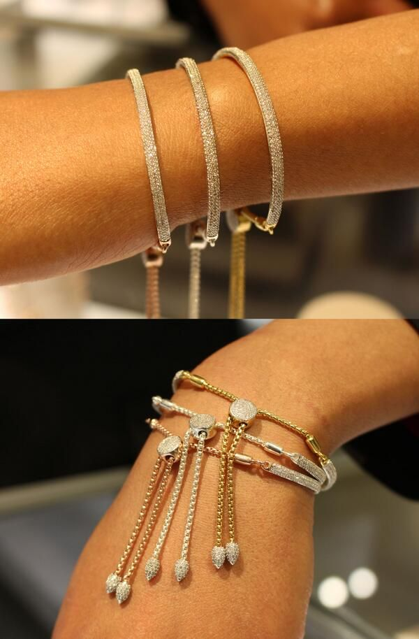 A timeless accessory designed to be treasured… Which diamond adorned #MonicaVinader bracelet is your favourite?