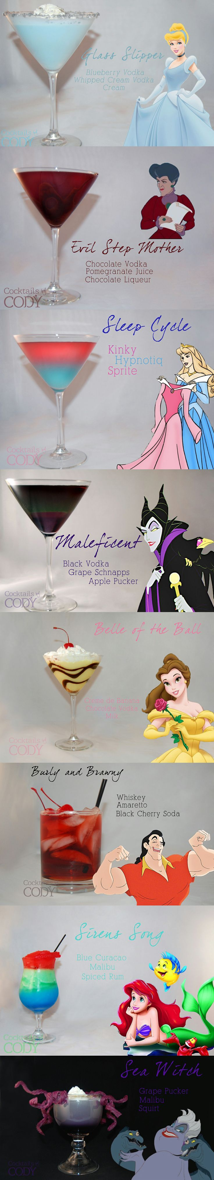 """Disney Themed Cocktails from Cocktails by Cody - <a href=""""https://www.facebook.comCodys.cocktails"""" rel=""""nofollow"""" target=""""_blank"""">www.facebook.com...</a>"""