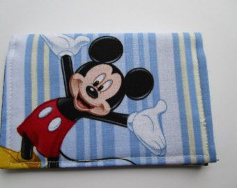 Mickey Mouse Wallet Disney Park Pass Holder by KathieSewHappy