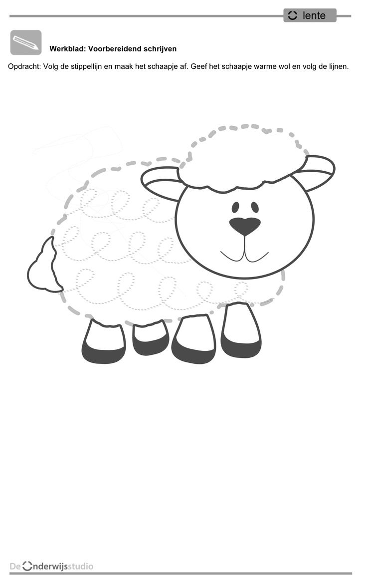 sheep trace line worksheet