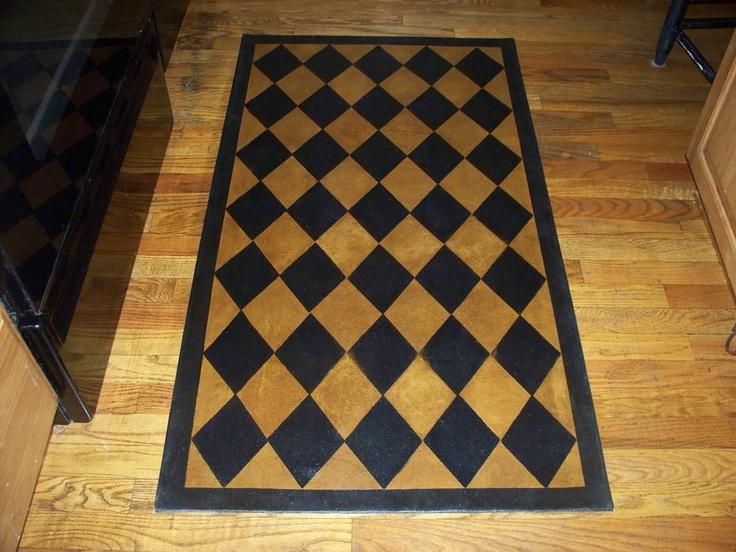 44 Best Floor Cloths Images On Pinterest Painted Floors