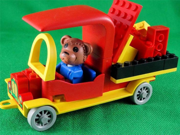 Vintage 1979 Lego Fabuland set 329 - BERNARD BEAR & HIS DELIVERY LORRY + Extras