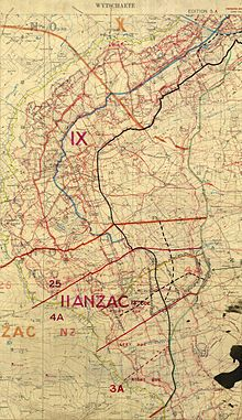 Battle of Messines - planning map (cropped) - Battle of Messines (1917) - Wikipedia