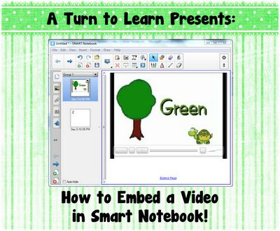 A Turn to Learn: How to Embed a Video in Smart Notebook!