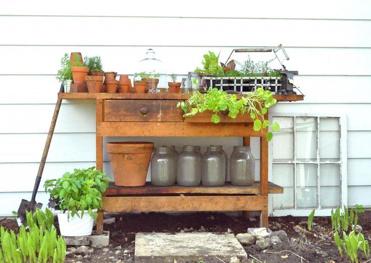 outside potting area