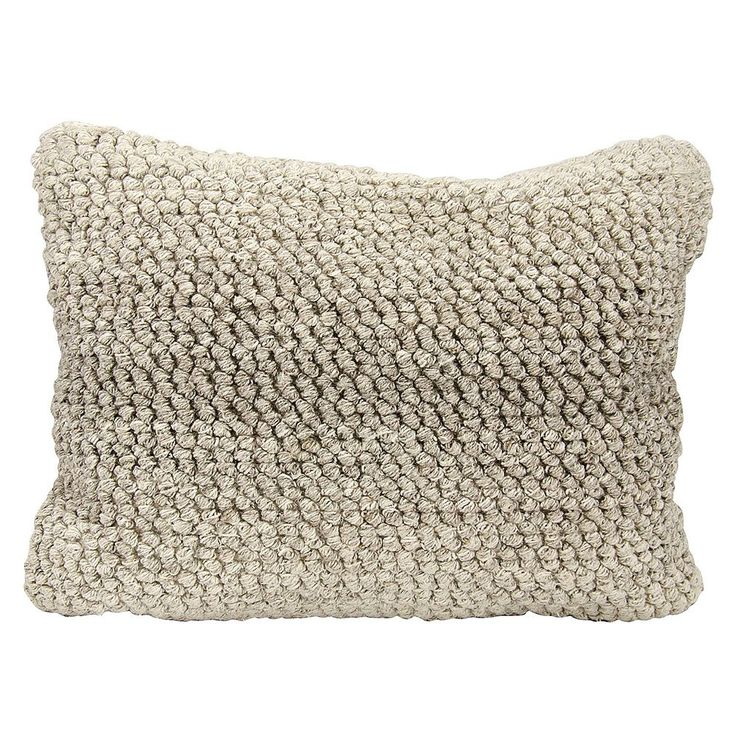 Joseph Abboud Ombre Loop Oblong Throw Pillow, Grey
