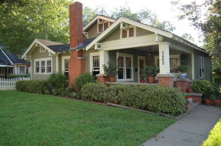 Exterior house colors with gray roof and red brick - What is a bungalow style home ...