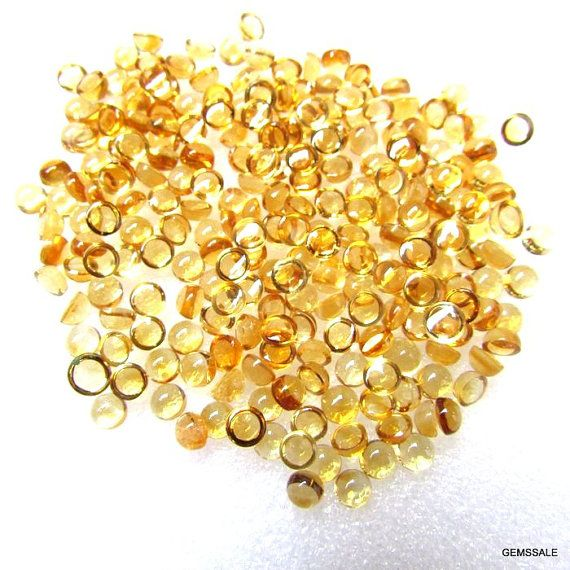 10 pcs Lot 4 mm CITRINE Round Cabochon Smooth polished by GEMSSALE