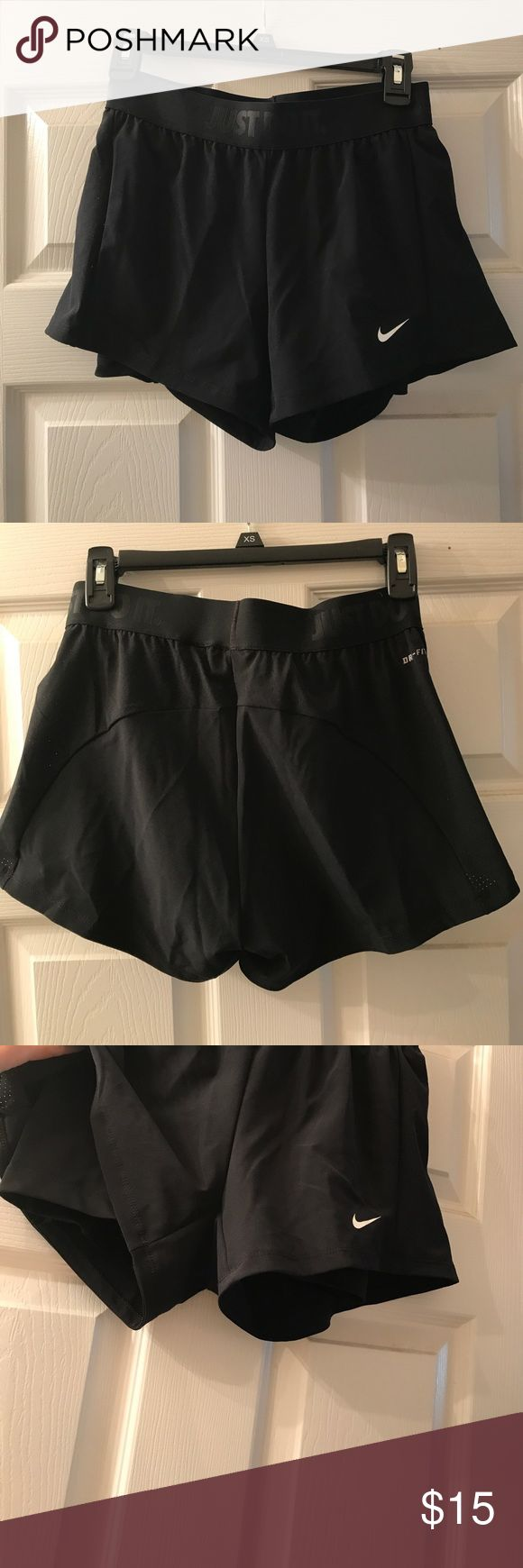 Nike 2-in-1 Women's training shorts These are brand new without tags. Women's Nike 2-in-1 training shorts. They are an XS. There is a black spandex inner liner. Nike Shorts
