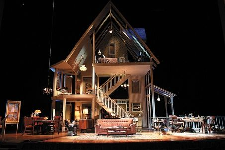 I love sets with 2 floors, let alone THREE! August:Osage County is such a good show... yes Broadway enjoys insanely messed up crazy shows. evidently
