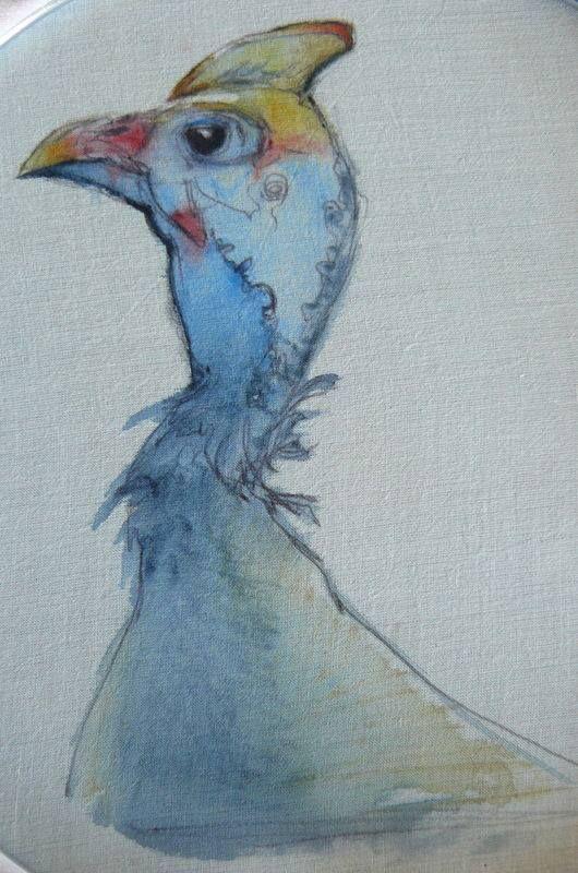 Kathryn Harmer Fox - Sketch directly on fabric using Derwent inktense watercolour sticks