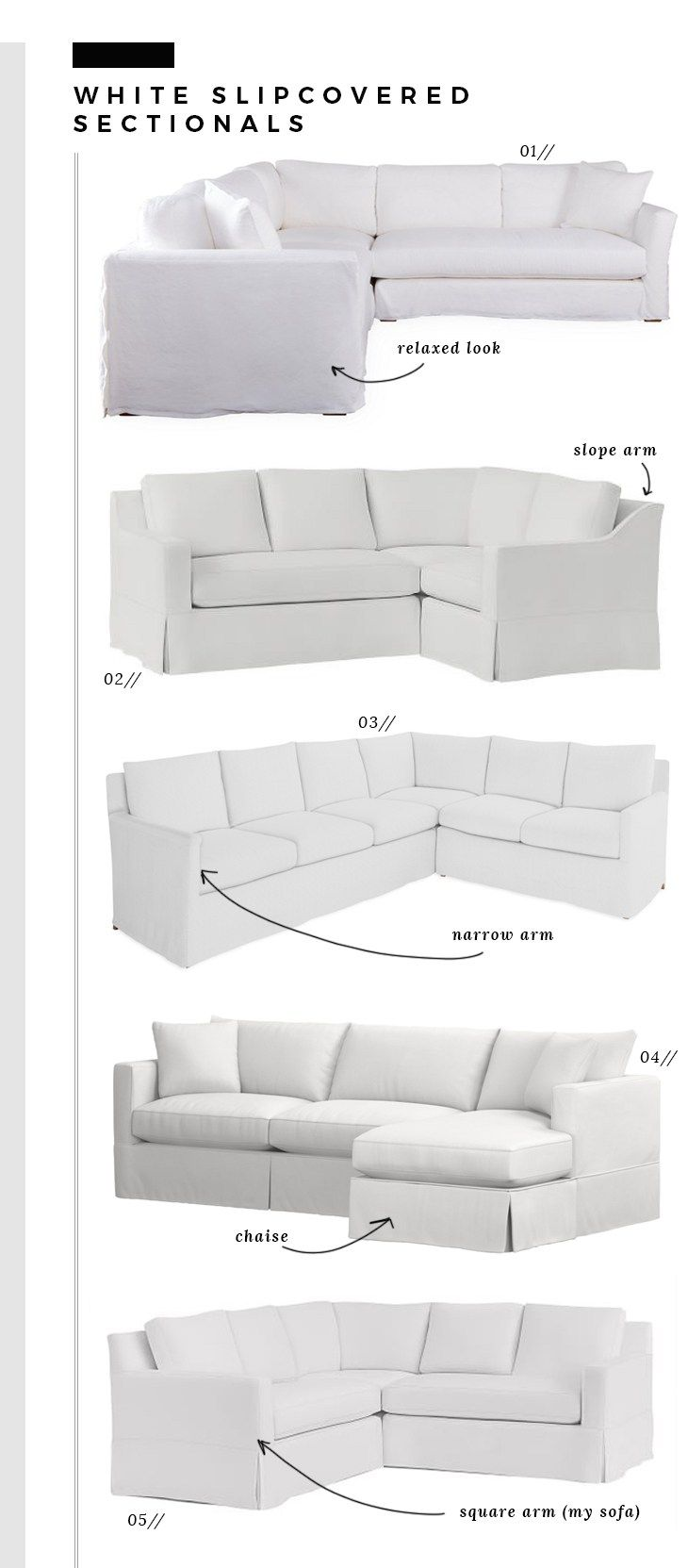 How We Choose White Slipcovered Sofas Room For Tuesday Blog White Slipcover Sofa Sectional Sofa With Chaise Slipcovered Sofa