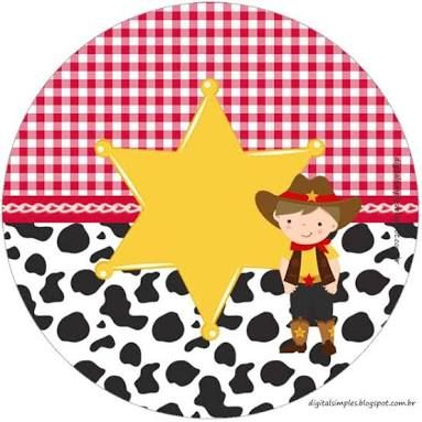 Resultado de imagem para kit festa infantil gratuito tema cowboy