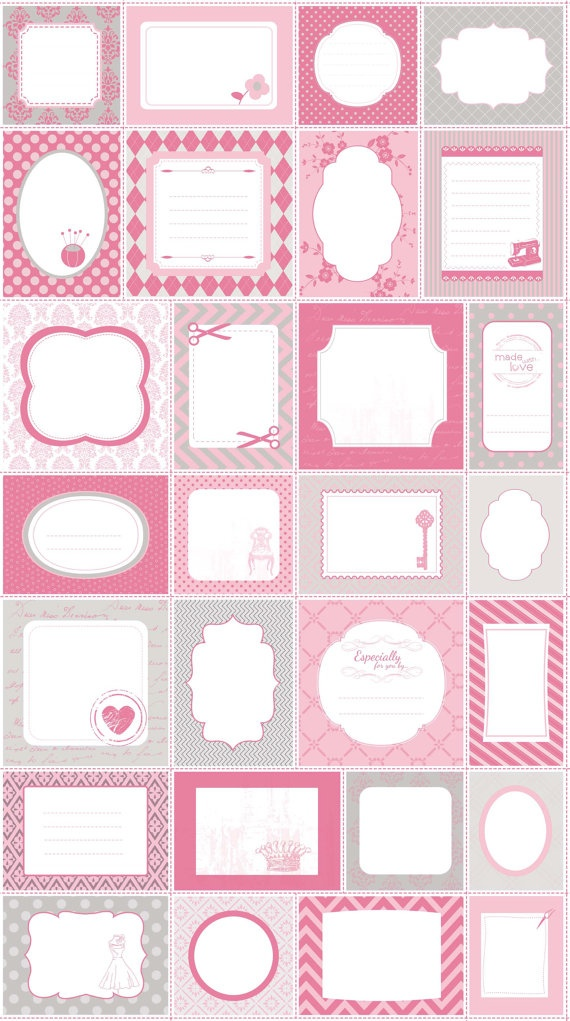 Riley Blake PINK SewOn QUILT LABELS Panel 24 x 44 by donellefritz, $6.73