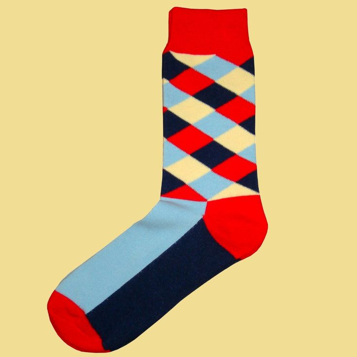 Bassin and Brown Sock Collection -   Check and Plain - Multi Coloured http://www.bassinandbrown.com/socks/check-plain-multi-coloured-socks-red-navy-beige-blue.htmlSocks - Red, Navy,Beige and Blue