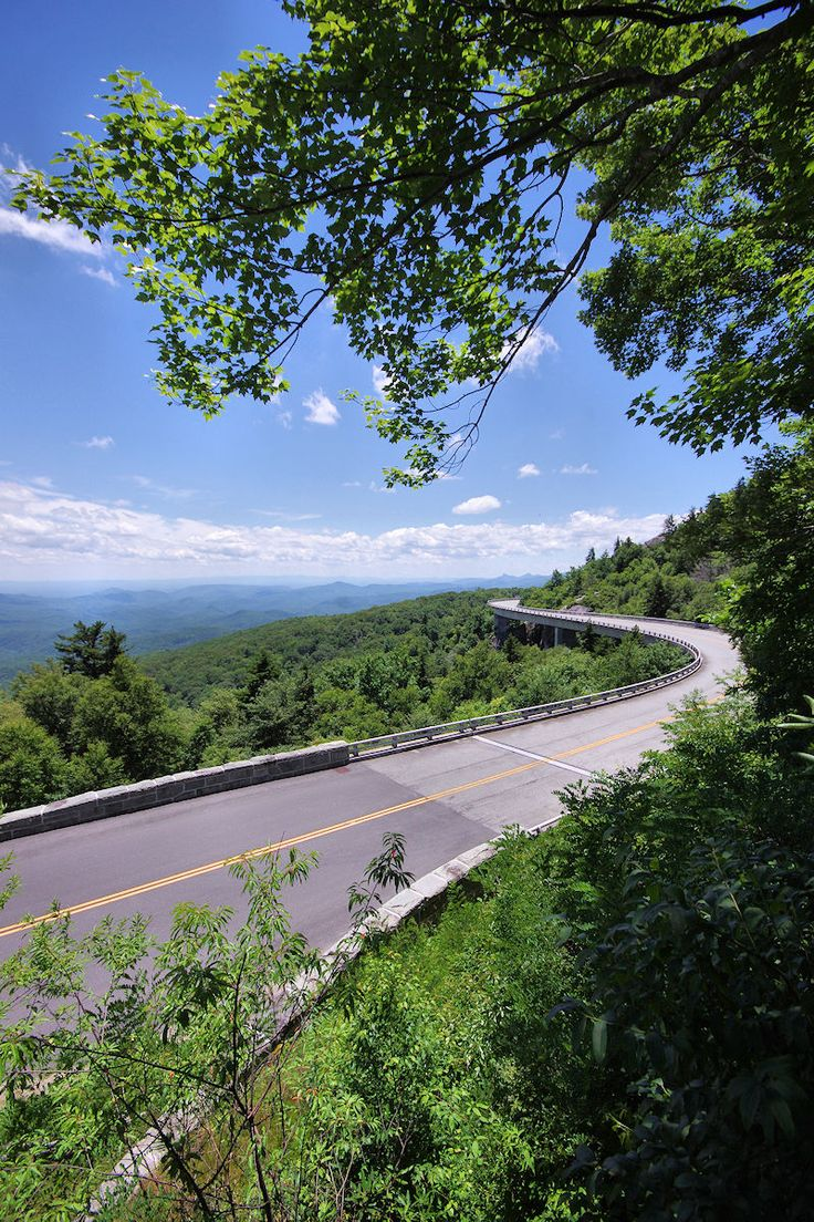 Linn Cove Viaduct on the Blue Ridge Parkway in North Carolina.
