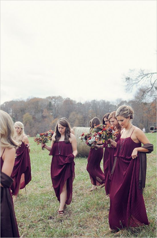 love these colors for bridesmaids / via style me pretty