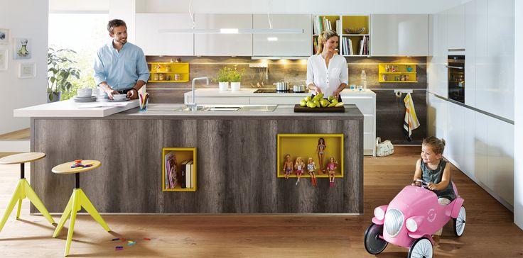 Handleless-Slab-Kitchen-Door. Schuller German Kitchens - Fino.