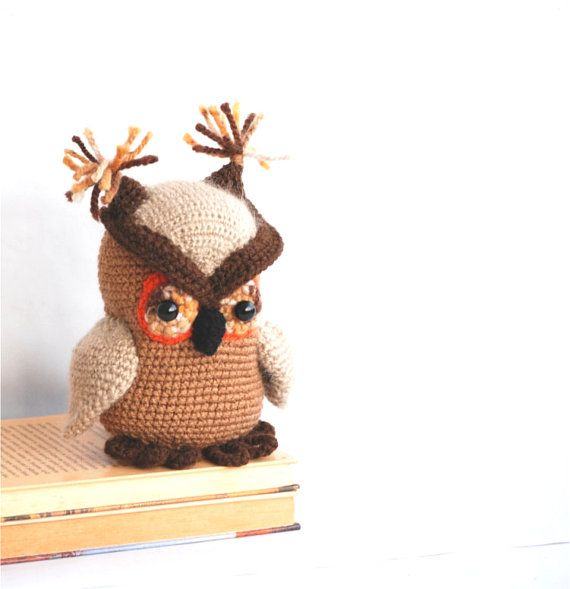 Free Owl Stuffed Cuddly Crochet Pattern : 17 Best images about Cute Stuffed Animals on Pinterest