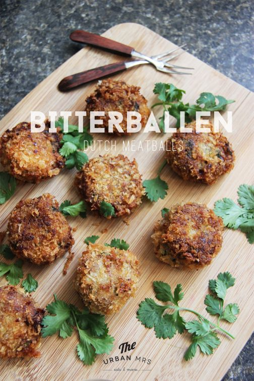 Bitterballen Dutch Meatballs #SundaySupper