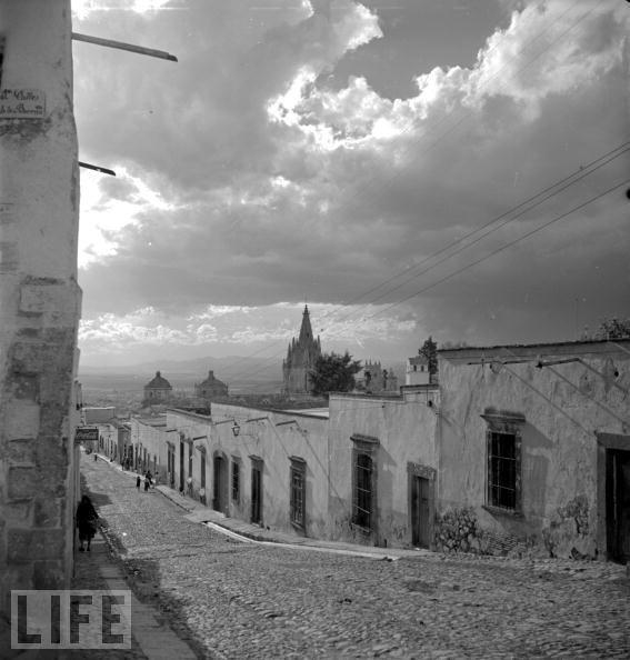 Parochial Town, Circa 1950  San Miguel de Allende, Guanajuato, Mexico.