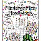 FREEBIE!+Kindergarten+Homework+Packet  Includes: Letters High-Frequency+Words Numbers+0-20 Counting+to+100  Also+includes+links+to+make+your+own+Li...