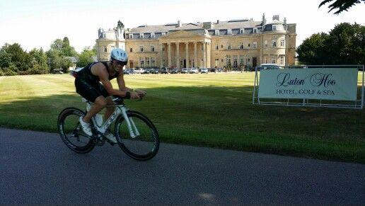 Jenson Button triathlon at #LutonHoo