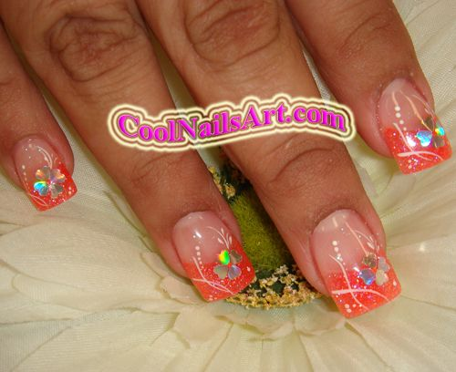 NAIL DESIGNS  | Nail Design With Hearts :: Nail Art Design From CoolNailsArt